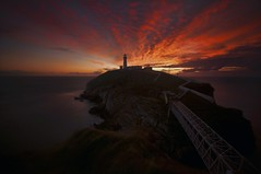 South Stack... (Maverick) Tags: uk sunset summer lighthouse wales clouds dusk stack holyisland irishsea anglesey northwales holyhead southstack ynyslawd