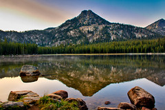 Gunsight Mountain Reflection (http://fineartamerica.com/profiles/robert-bales.ht) Tags: blue usa lake reflection nature water beauty horizontal clouds oregon reflections landscape outdoors photo rocks emotion awesome fineart scenic surreal environmental peaceful places bluemountains panoramic nationalforest alpine environment feeling wilderness inspirational spiritual sublime drama magical magnificent inspiring haybales bakercity pristine dramtic wallowamountains gunsightmountain canonshooter gunsightpeak iphonecase elkhornrange robertbales
