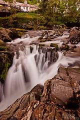Waterfall near Pont Y Pair (Rob Pitt) Tags: autumn water wales waterfall rocks y 10 falls stop filter betwsycoed betws coed swallow afon llugwy nd1000