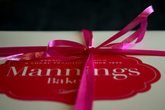 Cake Ribbon 1 277/365 (Helen Mulvey) Tags: pink cake box ribbon 365 277365