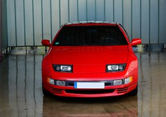Z (v6rev) Tags: auto red rot car automobile nissan twin automotive turbo 1991 20 rood v6 300zx swb rossa kfz z32