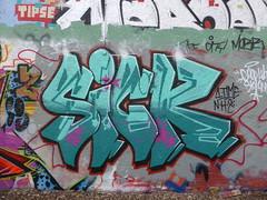 Sick graffiti, Trellick Tower (duncan) Tags: graffiti sick trellicktower