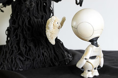 Possibility #45: Boo! 10052014 (Orange Barn) Tags: halloween movie toy ghost decoration novel thehitchhikersguidetothegalaxy douglasadams halloweendecorations marvintherobot childstoy 100possibilities