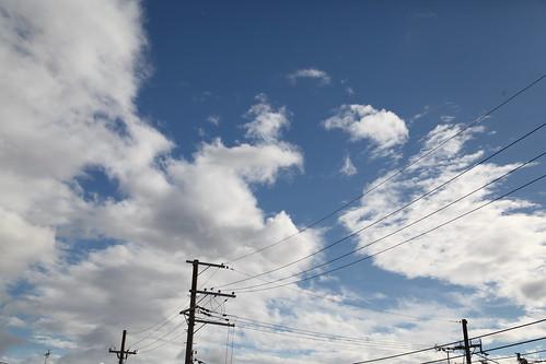 台風一過の空
