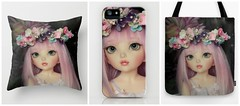 ** On my Society6! I hope you like them! ** (♥ Little Enchanted World ♥) Tags: pink flowers cute me by ball butterfly photography wings doll peace friendship magic taken chloe fairy crown bjd wonderland helpful jointed pastelcolours littlefee