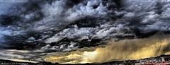 Sabadell, 09 setembre 2014, 19:45 (Perikolo) Tags: rain clouds lluvia nubes nvols sabadell pluja