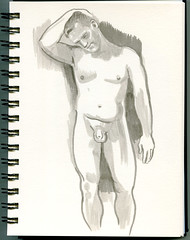 life drawing at Redline Denver (paul heaston) Tags: art notebook nude sketch drawing journal sketchbook figuredrawing redline lifedrawing