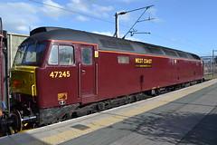 West Coast Railways 47245 (Will Swain) Tags: uk travel england west station train coast cheshire britain south main north transport platform trains class line september crewe 12 railways 47 wr 26th 2014 mainline wcr 47245