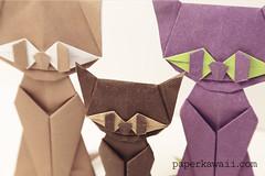 Origami - Halloween Cat (Modular) (paperkawaii) Tags: