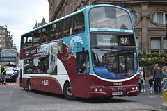 Lothian Buses 825 SN56AHL (Will Swain) Tags: street city uk travel bus buses scotland edinburgh princess britain centre transport central september 27th lothian 2014 825 sn56ahl