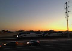 Amtrak Southwest Chief 4 at sunset (hupspring) Tags: railroad sunset motion heritage train evening diesel engine amtrak locomotive southerncalifornia orangecounty placentia passengertrain southwestchief p42 baggagecar amtk amtk169 amtk118 bnsfsanbernardinosub
