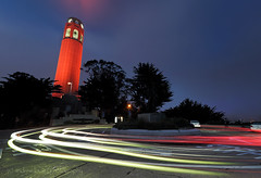 Inspirational ORANGE (Andrew Louie Photography) Tags: sf life california camera blue light orange distortion tower coffee fog wonder one interesting san francisco long exposure shot expression jazz celebration hour passion giants express create streaks coit persistence selfie jazza