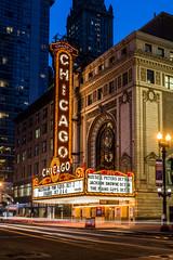 Chicago   |   Chicago Theatre (JB_1984) Tags: chicagotheatre theatre theatremarquee lights lighttrails movement motion blur bluehour ndfilter neutraldensityfilter theloop chicago illinois il unitedstates usa nikon d7100 nikond7100 explore explored