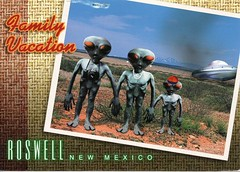 08 mere5oh (Rocky's Postcards) Tags: newmexico desert postcard roswell postcrossing tourists ufo aliens spacecraft crashsite mere5oh