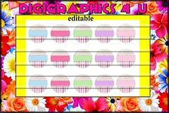 pastels (DigiGraphics4u) Tags: jewelry etsy digitalimages keychains printables editable hairbows alphaletters digigraphics4u