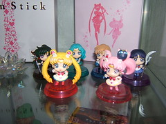 Sailor Moon Petit Chara Set 2nd wave (myuoi) Tags: moon crystal anniversary stick sailor limited figures 20th bishoujo senshi ballpointer stationeries proplica