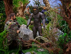"""""""I think we're gonna need a bigger net!"""" (MiskatonicNick) Tags: forest gijoe toys actionfigures kenner 16 diorama hasbro actionman adventurer mikepower atomicman sixthscale palitoy playscale bionicbigfoot"""