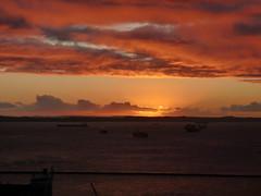 Coucher de soleil - Port de Salavador Bahia Brasil (thiery49) Tags: sunset sea brazil sun mer sunlight brasil port soleil boat bresil coucher cargo bahia salvador bateau habour