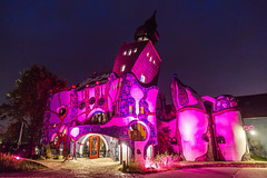 Hundertwasser Gallery (GEHPhotos) Tags: nightphotography pink wild colour building architecture night germany europe nightscape eu magical deu hundertwasser goudy phototype canoneos6d abensburg