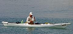 Canoe - Benidorm Marina (Panasonic TZ60) (markdbaynham) Tags: city travel costa lumix boat spain canoe resort panasonic espana blanca spanish espanol metropolis compact benidorm cuidad tz60