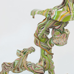 Soothsayer detail (Daniel Wiener) Tags: sculpture color art heads twisted 2014 contemporarysculpture apoxiesculpt