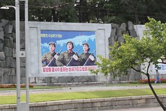 Street Propaganda Mural in Pyongyang North Korea (Ray Cunningham) Tags: mural propaganda military north korea pyongyang dprk coreadelnorte