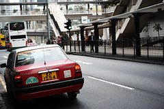 红色的士 -Red taxi (jdleung) Tags: red hongkong taxi sigma 香港 红色 出租车 的士 适马 dp3m dp3merrill