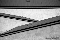 Crossing Lines (meepeachii) Tags: bw lines architecture structure vitra