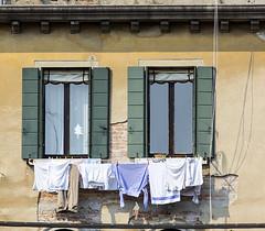 Laundry and Windows (Hans van der Boom) Tags: europe europa italië italy venezia venetië venice vacation laundry clothes drying clothing window two veneto it friendlychallenges gamesweepwinner gamewinner perpetualwinner