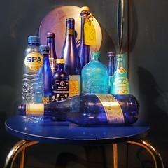 Collection: Blue Bottles on Blue Chair in a Blue Kitchen - Sammlung blauer Flaschen, liegend: blaue Flasche vom Narrenturm, blauer Stuhl in blauer Kche - Improvisations on Blue: Narrenturm Undine WasserSpiegel Kopffler von Gugging, der 8. Kontinent (hedbavny) Tags: vienna wien blue sun color colour reflection art water kitchen glass yellow trash studio austria mirror spider sketch sterreich bottle chair wasser nacht spiegel kunst diary sunny sketchbook september souvenir gelb improvisation balance spinne kche blau sonnig farbe spiegelung weave tagebuch flasche glas athene weber loom tapestry teppich abfall atelier sessel arachne webstuhl narrenturm werkstatt undine tapisserie skizze friedemann irrenhaus arbeitsraum aufgabe weben sonnengelb skizzenbuch gugging weavingloom nachtblau foolstower narrenhaus teppichweber hedbavny entnichtung ingridhedbavny