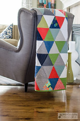 triangle quilt (meringuedesigns) Tags: modern triangle quilt solids quilting kona