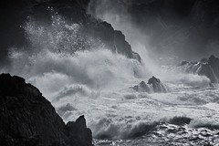 Crash (SkylerBrown) Tags: ocean california travel usa mist nature water rock dark intense crash dramatic pointlobos