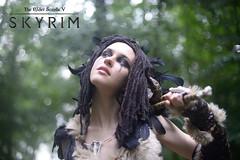 Daedra Heart (1/2) (DrosselTira) Tags: ice fur fire skull cosplay witch 5 destruction magic feathers v elder reach cosplayer crow tes raven scrolls witchmen skyrim forsworn tesv