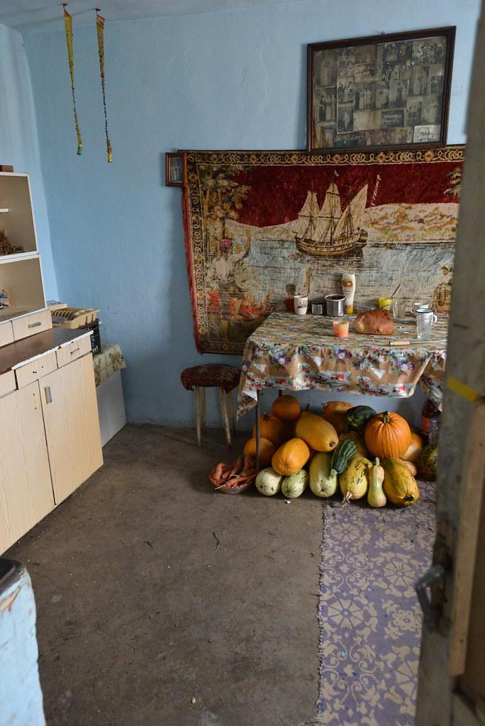 Inside the Romanian farmer's home