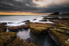 After Sunset (eggysayoga) Tags: longexposure sunset bali beach rock indonesia temple nikon asia cloudy 9 lee nd graduated tanahlot 1635mm gnd tabanan sacret d810 bigstopper