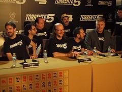 Angy en la rueda de prensa de presentación de Torrente 5