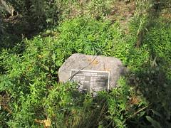 Another commemorative plaque on the stone (Strannik45) Tags: nature village dunes indiana beaches indianadunesnationallakeshore vacationhomes vacationvillage beverlyshores portercounty centuryofprogresshomes lakemichiganarea