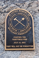 Thirtymile Fire Memorial (Don Geyer) Tags: usa monument dead fire death us washington memorial shrine unitedstates respect accident honor accidents disaster wa remembrance firefighting monuments firefighter fires shrines firefighters memorials northcascades catastrophic catastrophe disasters deaths catastrophes lifeevents lifeevent chewuchroad pasaytonwilderness thirtymilefirememorial