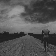 The Path Not Taken (Christopher Marrs) Tags: road portrait white black art rural dark nude landscape country fine conceptual darkphotography darkportrait darkimage