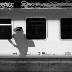 shadowland (bigeorg) Tags: street city light shadow people urban blackandwhite bw italy milan train dark candid milano streetphotography streetphoto