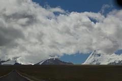 On My Way ( Tibet ) (Jos Rambaud) Tags: road autumn cloud mountain snow mountains ice weather clouds way camino cloudy snowy path plateau nieve pass tibet glacier snowcapped paso nubes otoo himalaya montaa glaciar hielo himalayas cloudscape nube montaas meteo lalungla meseta friendshiphighway puertodemontaa