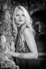 Vaida - St. Botolph's (sparkeyb) Tags: portrait bw woman lady female mono blackwhite nikon monotone blonde fullframe fx essex colchester strobe speedlite stbotolphs vaida d610 2870mm offcameraflash yongnuo yn460 rf603n