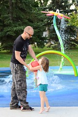 Ball Fun (Vegan Butterfly) Tags: family people playing girl ball daddy kid dad child play candid father daughter together
