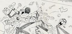 Albert Dubout Album 1944  cartoon  arbitre barbu.J detail
