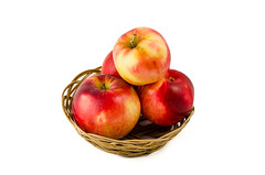 red and yellow apples in the basket (iren.ray) Tags: red food nature fruit garden dessert vegan juicy basket natural bright sweet juice markets fresh eat health apples taste organic diet isolated nutritious