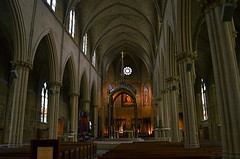 Le Cathedrale (MPnormaleye) Tags: city windows columbus ohio urban building church saint worship cathedral arches neighborhood altar holy textures utata sacred pews