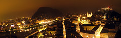 Salzburg by night (Prosthetic_Head) Tags: city longexposure panorama salzburg architecture night buildings lights austria europe glow cityscape panoramic historic