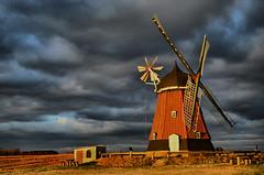 Windmill, Denmark (Neal J.Wilson) Tags: light clouds denmark nikon skies windmills nordic scandinavia goldenhour stormclouds d3200