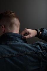 Strobe Test (kalebnimz) Tags: lighting light portrait test men fashion style denim levis strobe lookbook