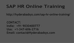 SAP HR Online Training | SAP HR Online Training in usa, uk, Canada, Malaysia, Australia, India, Singapore (noahsherston) Tags: uk india canada singapore malaysia hyderabad saphronlineclasses saphrtraininginusa corporatetraininginindia onlinesaphrclasses